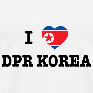 I Love North Korea (DPR Korea) Gensere - Premium T-skjorte for menn