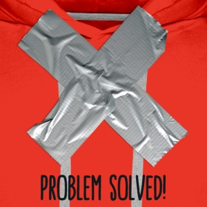 Problem Solved Duct tape T-shirts - Mannen Premium hoodie