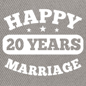 20 Year Happy Marriage T-Shirts - Snapback Cap