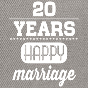 20 Years Happy Marriage T-Shirts - Snapback Cap