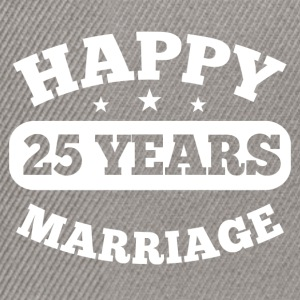 25 Years Happy Marriage T-Shirts - Snapback Cap