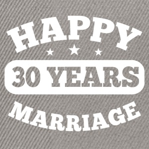 30 Years Happy Marriage T-Shirts - Snapback Cap