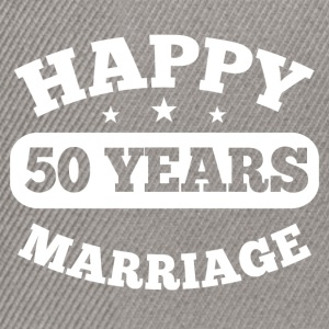 50 Years Happy Marriage T-Shirts - Snapback Cap