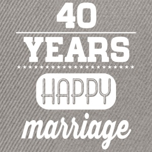 40 Years Happy Marriage T-Shirts - Snapback Cap
