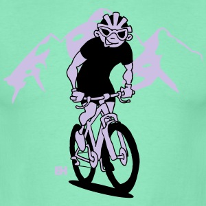 MTB - A mountain biker on his moutainbike Hoodies & Sweatshirts - Men's T-Shirt