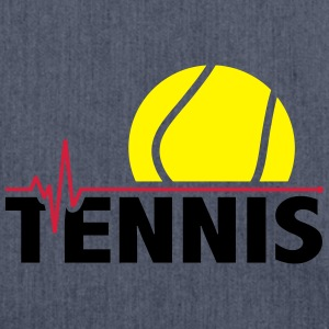 Tennis ball pulse Shirts - Shoulder Bag made from recycled material