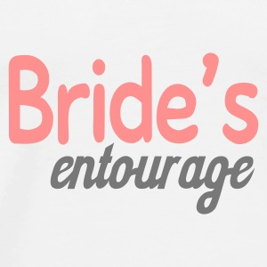 White Bride's entourage Buttons - Men's Premium T-Shirt