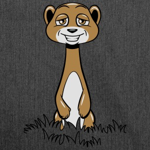 Meerkat cute funny grass T-Shirts - Shoulder Bag made from recycled material