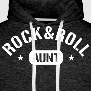 Rock and Roll Aunt T-Shirts - Männer Premium Hoodie