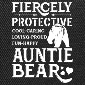 Fiercely Protective Auntie Bear T-Shirts - Snapback Cap