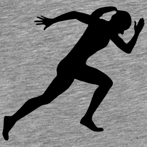 Runner, running, sprinter (super cheap) Tröjor - Premium-T-shirt herr