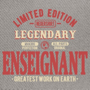 Enseignant Tee shirts - Casquette snapback