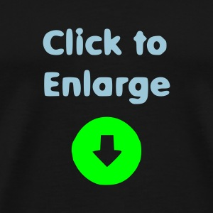 Zwart click_to_enlarge (Glow in the dark)  Ondergoed - Mannen Premium T-shirt