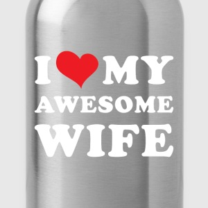 I Love my awesome wife T-Shirts - Water Bottle