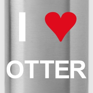 I love Otter - Trinkflasche