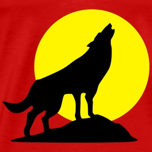 Wolf and full moon (super cheap!) Tops - Camiseta premium hombre
