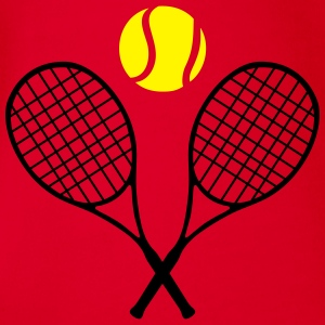Tennis racket and ball (cheap!) 2 colors Tee shirts - Body bébé bio manches courtes