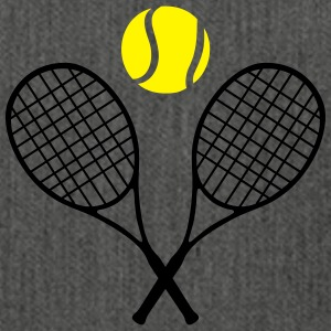 Tennis racket and ball (cheap!) 2 colors T-shirts - Schoudertas van gerecycled materiaal