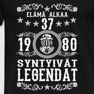 1980 - 37 vuotta - Legendat - 2017 - FI Hoodies & Sweatshirts - Men's Premium T-Shirt