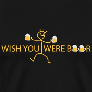 wish you were Tröjor - Premium-T-shirt herr