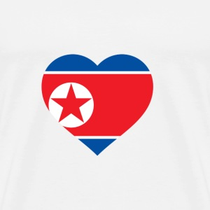 I Love North Korea (DPR Korea) Hoodies & Sweatshirts - Men's Premium T-Shirt