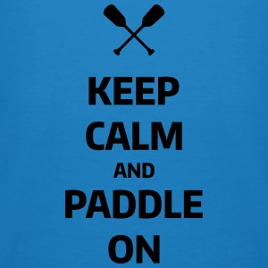keep calm and paddle on Wassersport Kanu Kajak Felpe - T-shirt ecologica da uomo