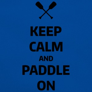 keep calm and paddle on Wassersport Kanu Kajak T-shirts - Retro-tas
