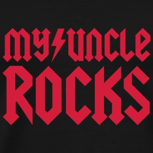 My uncle rocks Baby-bodyer - Herre premium T-shirt