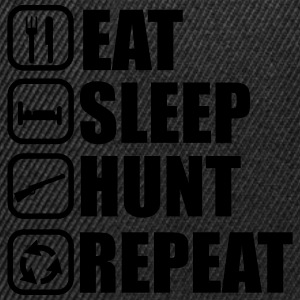 Eat,sleep,hunt,repeat, hunt, hunting, hunter - Snapback Cap