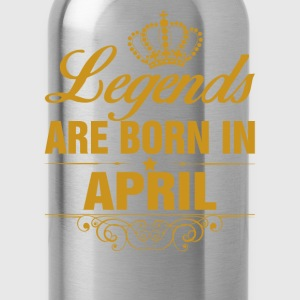 Legends are Born in April T-Shirts - Water Bottle