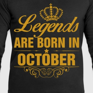 Legends are Born in October T-Shirts - Men's Sweatshirt by Stanley & Stella