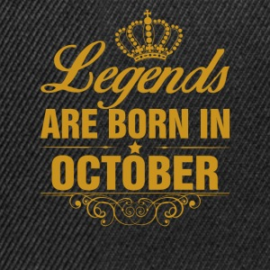 Legends are Born in October T-Shirts - Snapback Cap