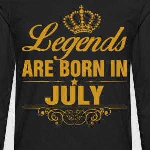 Legends are Born in July T-Shirts - Men's Premium Longsleeve Shirt