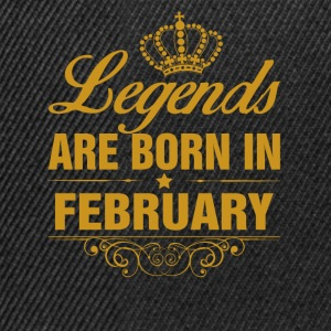 Legends are Born in February T-Shirts - Snapback Cap