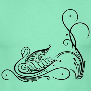 Filigree calligraphy swan with reed. - Men's T-Shirt