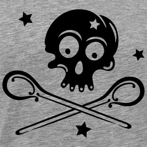 Skull with spoons and stars. - Men's Premium T-Shirt