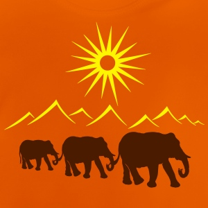 Elephants in the desert, vacation, travel. - Baby T-Shirt