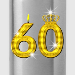 60 - Birthday - Queen - Gold - Flame & Crown Gensere - Drikkeflaske