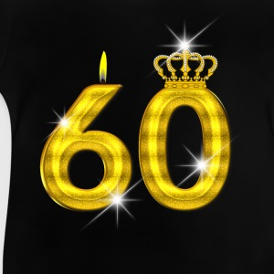 60 - Birthday - Queen - Gold - Flame & Crown Skjorter - Baby-T-skjorte