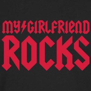 My girlfriend rocks Tee shirts - T-shirt manches longues Premium Homme
