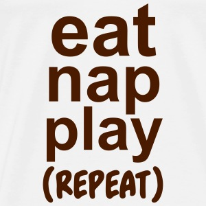 Eat nap play (repeat) Baby body - Mannen Premium T-shirt