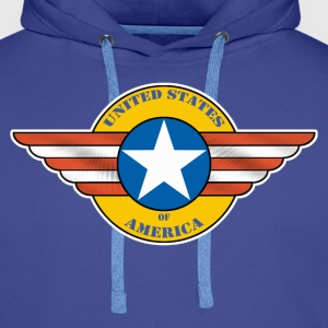 United States Army 02 Tee shirts - Sweat-shirt à capuche Premium pour hommes