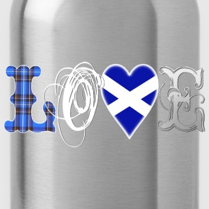 Love Scotland Tartan Edit T-Shirts - Trinkflasche
