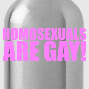 Zwart Homosexuals are gay! T-shirts - Drinkfles