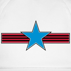 star stripes_vec_3 en T-Shirts - Baseball Cap
