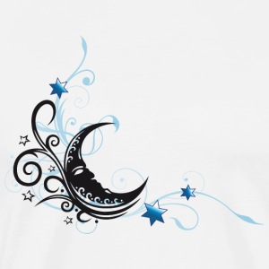 Moon with Tribal and stars, black and blue - Men's Premium T-Shirt