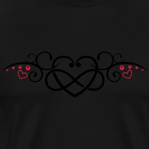 Heart with infinity, Tribal & tattoo style. - Men's Premium T-Shirt