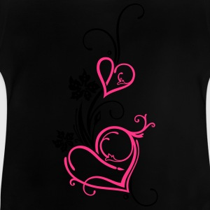 Two hearts with blossoms - Baby T-Shirt