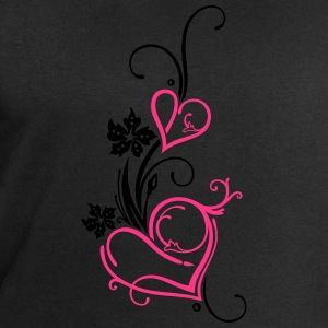 Two hearts with blossoms - Men's Sweatshirt by Stanley & Stella