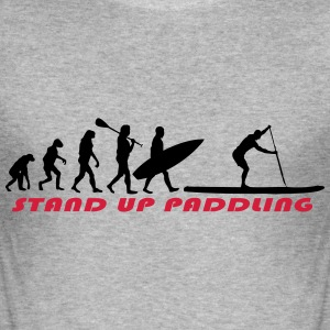 SUP Evolution - Stand Up Paddling Pullover & Hoodies - Männer Slim Fit T-Shirt